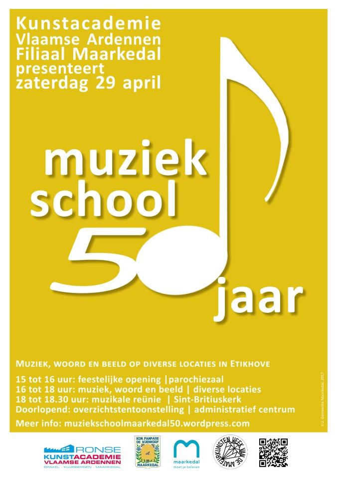 50 jaar muziekschoolmaarkedal affiche (2)